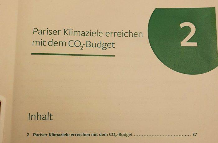 Carbon Budget brief