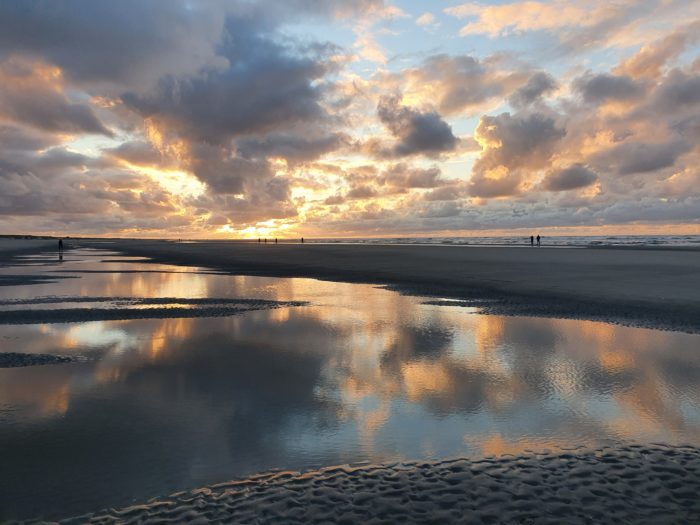 Sunset on Ameland, Netherlands September 2020