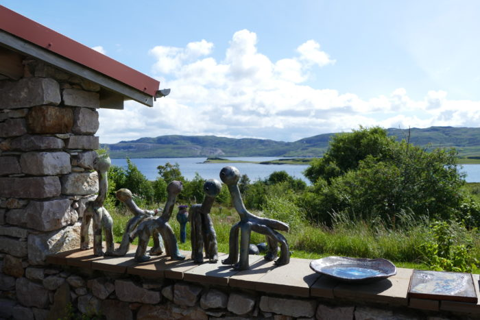 Lotte Glob's Sculpture Garden and Studio, Loch Eriboll, Scotland, 2016