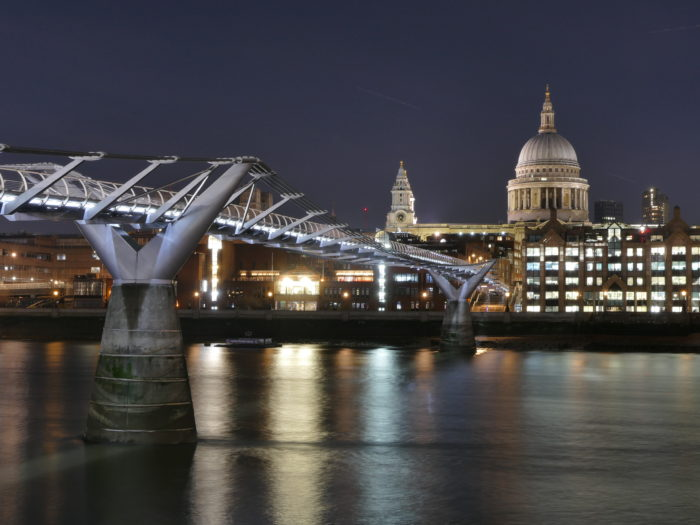 Millenium Bridge and Saint Paul's