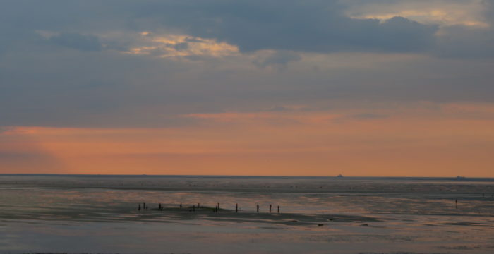 Sunset at the North Sea, Germany, July 2021