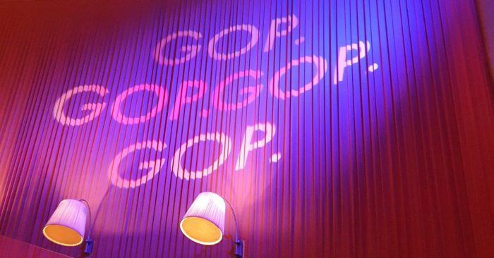 Light Art inside the GOP theatre