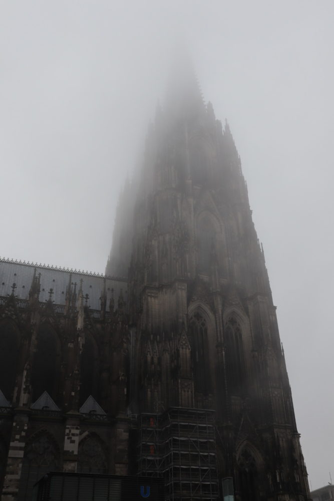 Cathedral in the fog, Cologne, October 2021